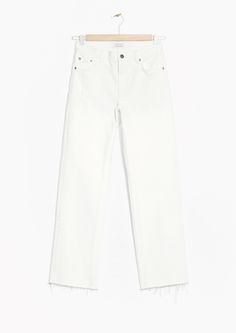 Other Stories image 1 of Raw Edge Denim Jeans in White