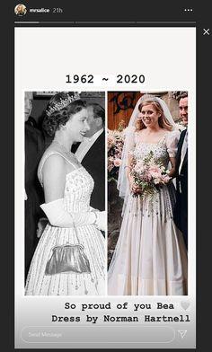 Princess Beatrice Wedding, Princess Eugenie, British Royal Family News, Wedding Shoes, Wedding Gowns, Norman Hartnell, Royal Family Trees, Wedding Congratulations, Duchess Of York