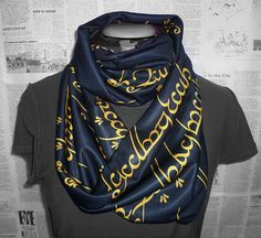 Lord Of The Rings, One Ring Script, Infinity Scarf, The Hobbit, ROOBY LANE