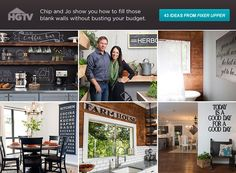 Get 43 budget-friendly ideas for filling blank walls from Fixer Upper hosts Chip and Jo