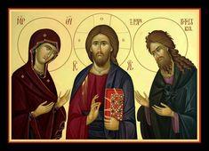 DEISIS Roman Church, Orthodox Christianity, Religious Icons, Holy Family, Orthodox Icons, Christian Art, Virgin Mary, Catholic, Movie Posters