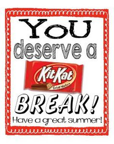 Kit Kat Candy Label for the End of the School Year by iINVITEu on Etsy