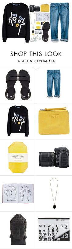 """Kenzo Lemonade"" by leamonroe ❤ liked on Polyvore featuring ASOS, Kenzo, Acne Studios, Pelle, Nikon, Assouline Publishing, Wallis, Nearly Natural, Crate and Barrel and Guide London"