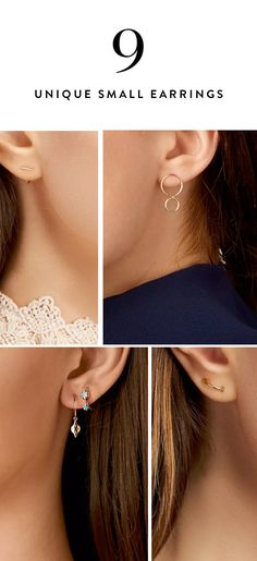 5e3442980 9 Cool Little Earrings You Haven't Seen Before. Dainty EarringsSmall  EarringsDiamond ...