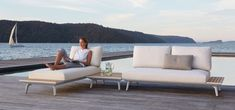 Sponsored by King Living Contemporary outdoor style has a new look with the King Cove Collection. Best known for their quality, innovative, long-lasting indoor furniture pieces, King Living have now… Sofa Furniture, Garden Furniture, Furniture Design, Outdoor Furniture, House Furniture, Outdoor Sofa, Outdoor Living, Outdoor Decor, Shop Furniture Online
