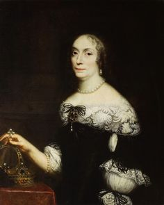 Portrait of Marie Louise Gonzaga by Daniel Schultz, before 1667 (PD-art/old), Muzeum Narodowe w Warszawie (MNW), from the collection of the Polish Vasas