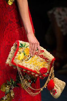 Dolce & Gabbana at Milan Fashion Week Spring 2016 - Details