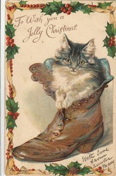 To Wish you a Jolly Christmas - vintage