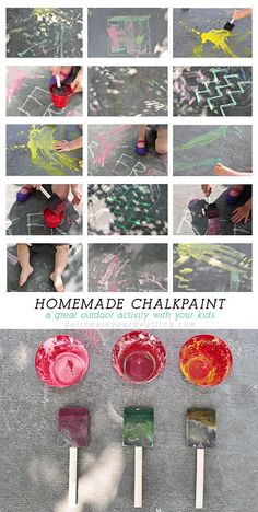 How to create fun and entertaining Homemade Chalk Paint.