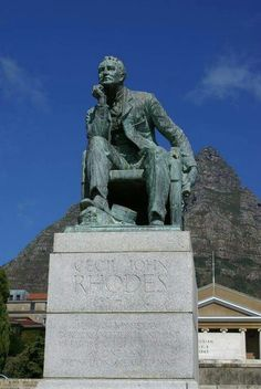 Statue of Cecil John Rhodes founder of University of Cape Town. Removed 2015. [Founder of UCT? HOW PEOPLE EASILY DISTORT HISTORY]