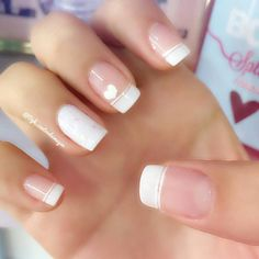 New manicure novias blanco 27 ideas Neue Maniküre Novias Blanco 27 Ideen Love Nails, Pretty Nails, Fun Nails, Nail Decorations, Creative Nails, French Nails, Manicure And Pedicure, Wedding Nails, Nails Inspiration