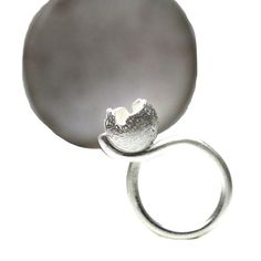 Unique Vessel Sterling Silver Ring Modern Gray by NangijalaJewelry, $105.00