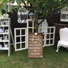 https://www.facebook.com/pages/TLC-Candy-Cart-Hire/1567572446801237 Venue wedding party decorations hire Cambridgeshire . Victorian windows seating plan photo display,birdcages,quote crates ladders chairs and much more www.tlccandycart.co.uk