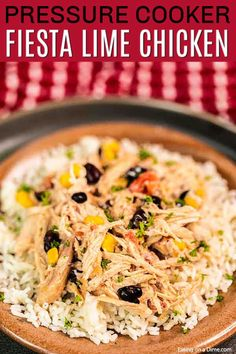 Instant Pot Fiesta Lime Chicken is a delicious blend of creamy chicken with black beans, corn and more. Try it with rice, tacos, salad and more! Fiesta Lime Chicken, Meals Everyone Loves, Chicken Over Rice, Chicken Eating, Cilantro Lime Rice, Creamy Chicken, Pressure Cooker Recipes, Soup Recipes, Dinner Recipes