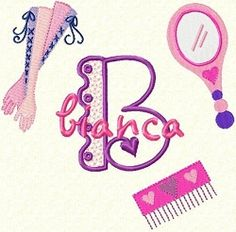 Girly Princess Monogram | Princess | Machine Embroidery Designs | SWAKembroidery.com Fancy Fonts Embroidery