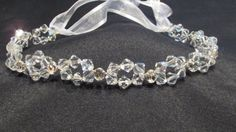 Clear Swarovski Crystal Headband with Clear by NellieAnneDesigns