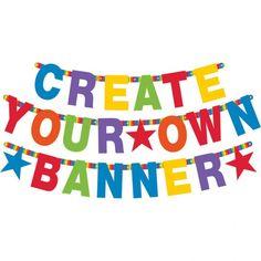 Poze Banner Litere Personalizabil Bright Birthday 84 Piese
