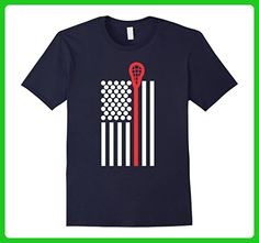 Mens American Flag With Crosse And Balls Funny Lacrosse T Shirt XL Navy - Sports shirts (*Amazon Partner-Link)