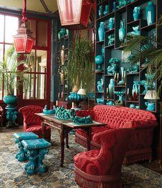 Maximalist Home Decoration decoration interieur appartement Exterior Design, Interior And Exterior, Room Interior, Maximalist Interior, World Of Interiors, Winter Garden, Bohemian Decor, Bohemian Interior, Gypsy Decor
