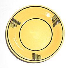 Syracuse China Art Deco Yellow/Black Restaurant Fruit