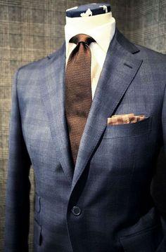Brown&Blue Men's suit