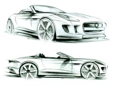 Jaguar F-Type - Design Sketches
