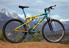 Wanted one of these when I first started MTBing. Next best was a set of those oil filled Manitou forks but they were way too expensive and settled for Rockshox Quadra Mountain Bicycle, Mountain Biking, Yeti Arc, Vintage Bikes, Retro Bikes, Yeti Cycles, Mt Bike, Off Road Cycling, Classic Bikes