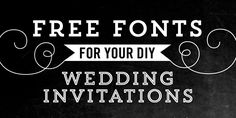 fonts for invites