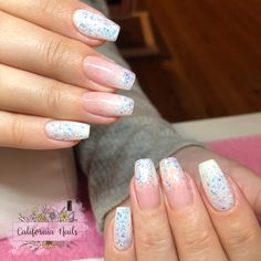 ✨❄️A Wintery Ombré❄️✨ Swing by Sweden glitter gel by Light Elegance makes a perfect wintery feeling ombré 😍 These nails were made using Ideal Pink 1 Step, Perfect White, and Swing by Sweden bought from Neglakademiet • • • • • #CaliforniaNails #Vindafjord #Ølen #negler #neglernorge #neglerhaugesund #haugesundnegler #lightelegance #glittergel #gelnegler #gelnails #glitternegler #ombrenegler #ombrenails #babyboomernails #coffinnails #longnails #lightelegancegel #norskenegler #norsknegler… Coffin Nails, Gel Nails, California Nails, Light Elegance, Glitter Gel, Long Nails, Sweden, Elegant, How To Make