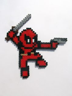 Deadpool Perler Sprite - made for Jason