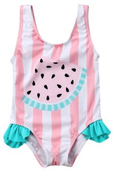 4be2bcb86b410 SALE 40% OFF + FREE SHIPPING! SHOP Our Striped Watermelon Swimsuit for Baby  &