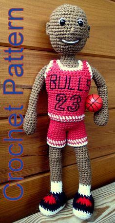 Basketball Player Crochet Pattern by Zwooczki on Etsy
