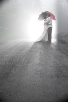 Cool rainy day shot - Wedding Photography
