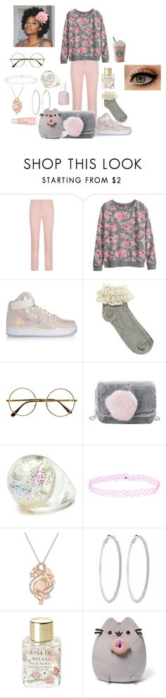 """Last Set of the Day"" by maddiegoth ❤ liked on Polyvore featuring ESCADA, H&M, NIKE, Oasis, Retrò, Burberry, Accessorize, LE VIAN, Roberta Chiarella and American Eagle Outfitters"