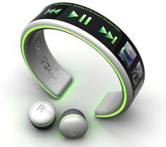 Wrist-wear-MP3-Player - Only a concept, but how awesome!!  I hope they make them!