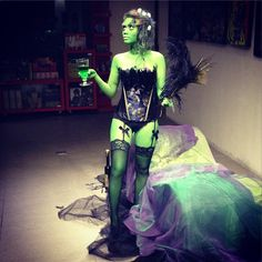 Delve into the delectable world of the Absinthe Green Fairy in this ethereal look! Show us your Halloween look of the day by tagging us on Instagram and using #megLOTD. You might get featured on MegStreetWear.ph! #streetstyle #megstreetwear #OOTD #LOTD #style #fashion #streetstyle #instafashion #halloween #costume #fairy #corset #green #peacock #igersmanila Photo from