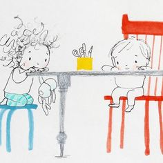 Position your Cheerios and take a look at these adorable illustrations by UK author/illustrator Jane Massey. Doodle Drawings, Cute Drawings, My Little Paris, Children's Book Illustration, S Pic, Cute Art, Painting Inspiration, Illustrations Posters, Childrens Books