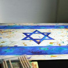 Flag of Israel in the process