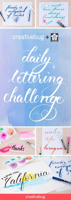 Want to learn how to letter like a pro? Hone your skills by starting a daily practice with Michaela Yee of Sakura. Michaela is a lettering artist and pen guru, and in this inventive daily challenge, she expertly demonstrates how to use a variety of Sakura pens and paints – including favorites like Microns, Koi Brush Pens and Gelly Rolls. Throughout the month, Michaela shares several styles of brush-lettered and block alphabets, perfect for making custom cards, frame-worthy quotes, and more.