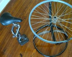 Repurposed Bike Parts Table and Chair - Aaron Musicant