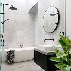 awesome Modern Bathroom Design Trends For Your Home House Bathroom, Bathroom Interior, Free Standing Bath, Laundry In Bathroom, Bathroom Style, Bathroom Decor, Light Grey Bathrooms, Interior, Bathroom Design