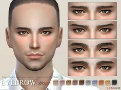 The Sims Resource: Eyebrows 37M by S-Club • Sims 4 Downloads