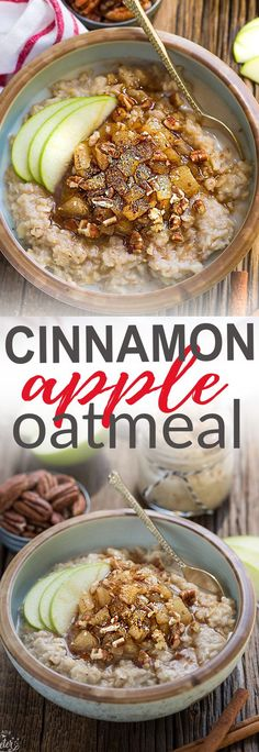 Cinnamon Apple Pie Oatmeal makes the perfect easy breakfast for fall. Best of all, this recipe it comes together in no time and is full of cozy fall flavors! It's vegan, gluten free and refined sugar free.