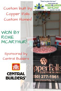 Sending out congratulations to Roxie McArthur winner of the custom built from Copper Falls Custom Homes and sponsored by Central Builders' Supply Pg​ at last weekend! Enjoy it Roxie! She Sheds, Home Hardware, Custom Homes, Congratulations, Copper, Fall, Autumn, Fall Season, Brass