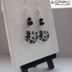 Boucles d'oreilles en plastique fou et perles #men'sjewelry #men's #jewelry #earrings