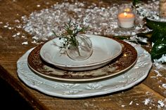 Our winter place setting