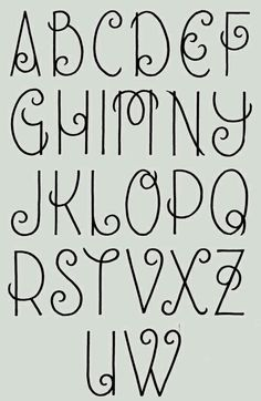 Journal, hand lettering, alphabet, font /hannahchute/ /sarahchute/ I love this girly handwriting Hand Lettering Alphabet, Doodle Lettering, Creative Lettering, Calligraphy Letters, Alphabet Fonts, Doodle Alphabet, Lettering Ideas, Lettering Tutorial, Fancy Writing Alphabet