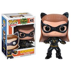 From the hit wacky 1966 Batman TV Series! This Batman 1966 TV Series Catwoman Pop! Vinyl Figure features Batman's most meowing nemesis, Catwoman (as played by Julie Newmar), rendered in the adorable Pop! Batman Et Catwoman, Batman 1966, Batman Cat, Catwoman Cosplay, Lee Meriwether, Figurines D'action, Funko Pop Toys, Funko Pop Vinyl, Vinyl Toys