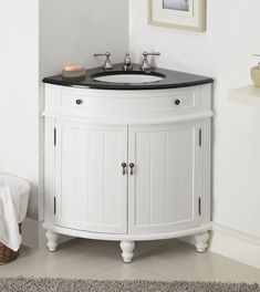Featuring a black granite top and sturdy body, this Thomasville sink vanity is the ideal choice for those who seek a functional and polished model.Its non-intrusive and sleek body provide a surprisingly large amount of storage space. | eBay!