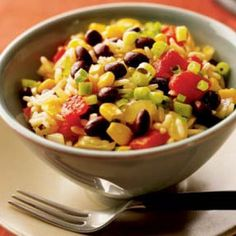Sebastian's Smoky Rice and Beans. Minus the chicken stock and sub brown rice and I'm in!